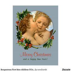 Bouguereau First kiss children CC0043 Christmas