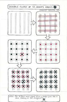 St. John's Cross zentangle