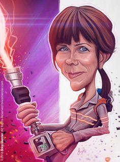 Caricature de Kristen Wiig par Brice Mercier.