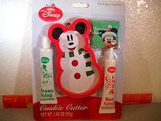 Disney Mickey Mouse Snowman Cookie Cutter Kit New Old Stock | eBay
