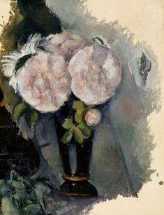 Cezanne -Fleurs dans un vase bleu