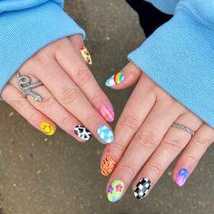 Chic Nail Art, Funky Nail Art, Chic Nails, Funky Nails, Stylish Nails, Edgy Nails, Swag Nails, Nail Art Pics, Cute Acrylic Nails