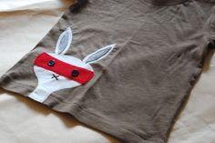 konijn op shirt