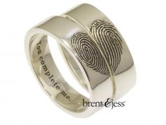 brent&jess custom handmade fingerprint wedding rings