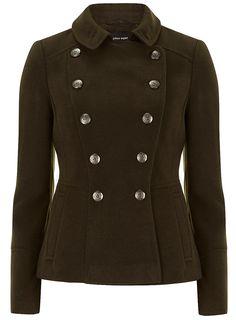 Khaki short military coat £39