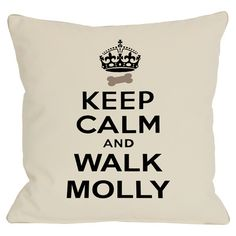 Personalized pillow in ivory with a typographic motif. Made in the USA.   Product: PillowConstruction Material: Poly...