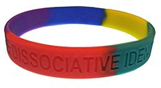 awarenesss wristband for Dissociative Identity Disorder / Multiple Personality - sold by Trauma Dissociation