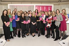ELLE International Beauty Awards 2015, Marta Rudowicz (szefowa działu Urody ELLE), Monika Stukonis (redaktor naczelna ELLE) , Margaret Ann Dowling (dyrektor regionalna Burda International) i wszyscy laureaci statuetek, fot. AKPA