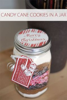 Candy Cane Cookies in a Jar {101 Days of Christmas at lifeyourway.net}