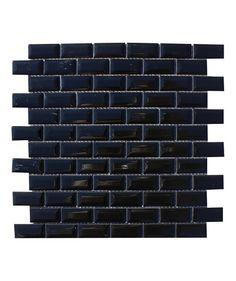 Shapes Mini Metro Gloss Black 23x48mm Mosaic