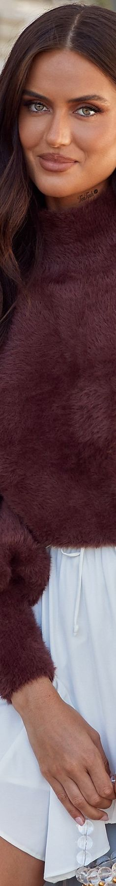 ❈Téa Tosh❈ #alamourthelabel #teatosh #taliarichman Alamour The Label, Rich Man, Chocolate Brown, Turtle Neck, Sweaters, Fashion, Moda, Fashion Styles, Sweater