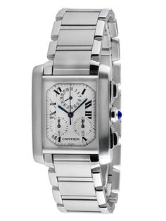 Cartier Stainless Steel Tank Francaise 2303 Watch