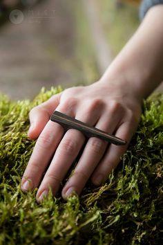 MIST forms ring // abonos & mahogany wood 2015, kranjcec&stepan https://www.facebook.com/mist.jewelry