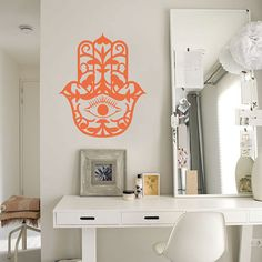 Hamsa Vinyl Wall Decal House Protection Housewares Sticker - ID60, I am going to paint you on the wall.