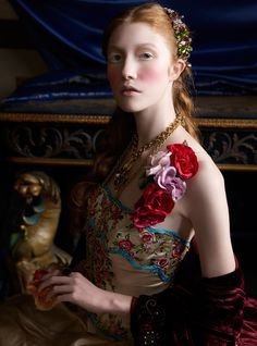 Renaissance by Caroline Knopf This series was shot for Conde Nast Brides 75th Anniversary Edition. It was produced in conjunction and inspired by the Metropolitan Museum's Exhibition of  Love and Art During The Italian Renaissance.  The series has been recognized by Graphis Photography Annual.