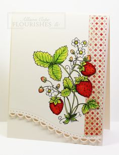 Strawberries ~ Teacher's Stationary Gift Set