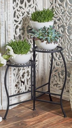 Indoor Plant Shelves, Indoor Plants, Metal Plant Stand, Plant Stands, Iron Plant, Succulent Pots, Potted Succulents, Interior Exterior, Wood And Metal