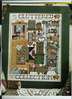 Schema punto croce Cluttered Collection 01