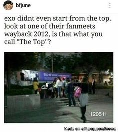 starts from the bottom<< NOW WE'RE HERE!!! AND WE'RE AWESOME!!! GO EXO! YOU'RE GREAT AND WE VALUE YOUR EXISTENCE! \(^o^)/