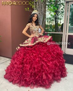Informal showroom offering formal gowns for special events, including proms & quinceañeras. Book your appointment to say YES to your dream dress! 714 774 7537 845 N. Mariachi Quinceanera Dress, Burgundy Quinceanera Dresses, Mexican Quinceanera Dresses, Pretty Quinceanera Dresses, Mexican Theme Dresses, Quince Dresses Mexican, Xv Dresses, Ball Gown Dresses, Charro Dresses
