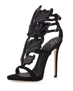 Coline+Wings+Suede+110mm+Sandal+by+Giuseppe+Zanotti+at+Neiman+Marcus.