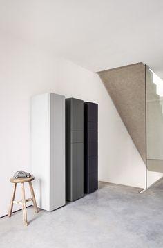 Wooden shoe cabinet SET by Schönbuch design Carmen Stallbaumer