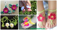 Crochet Barefoot Baby Sandals [Free Patterns]: Crochet Baby Beach Sandals, Summer Sandals, Baby Anklets, Bracelets