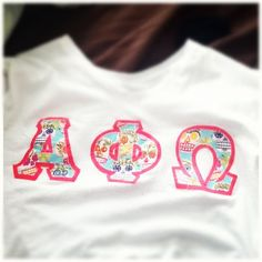 #photoadaymay day 3 something you wore. Apo letters alpha phi omega AΦΩ AphiO AphiQ these are from scarlet fever in new Brunswick custom made.