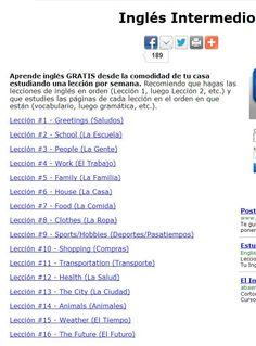 .inglesmundial 16 lecciones de diferentes temas nivel intermedio