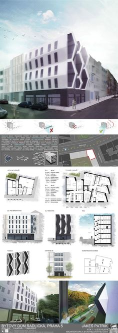 Studentský projekt. LS 2013/2014. FSv ČVUT v Praze. Praha, Skyscraper, Multi Story Building, House, Presentation Board Design, Atelier, Skyscrapers, Home, Homes