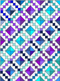 de Jong Dream House: Quilt :: Carolina Jewel Box for Quilts of Compassion Jellyroll Quilts, Lap Quilts, Quilt Blocks, Sampler Quilts, Quilting Templates, Quilting Designs, Quilting Tutorials, Half Square Triangle Quilts, Square Quilt