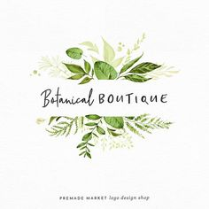 How lovely is this logo? Would be perfect for a florist shop :) Premade Logo Design | Botanical Logo | Handwritten Logo | Nature Logo | Blog Header | Small Business Branding | Leaf Logo | Shop Logo | Blog Logo | #ad