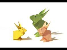 Easter Origami Rabbit - Tutorial - How to make an origami rabbit - YouTube