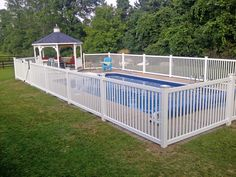 white metal pool fence - Google Search