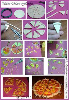 Ysnelda Solano : Paso a paso Pizza día del amor y la Amistad en Masa Flexible. ysneldasolanohechoamano.blogspot.com