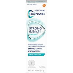 Sensodyne Pronamel Strong and Bright Enamel Toothpaste for Sensitive Teeth, to Reharden and Strengthen Enamel, Extra Fresh – 3 Ounces Toothpaste For Sensitive Teeth, Toothpaste Brands, Best Toothpaste, Tooth Sensitivity, How To Prevent Cavities, Stained Teeth, Healthy Teeth, Teeth Whitening, Travel Size Products