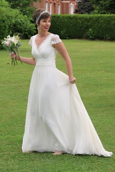 Elise mariée de Paris avec une robe Elsa Gary