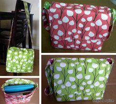 Free Bag Pattern and Tutorial - Reversible Messenger Bag