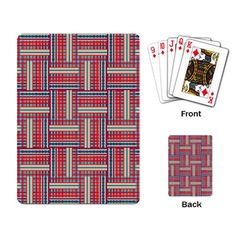 Red Blue Pattern Playing Cards Single Design Customise Playing Cards £11.80 Free Shipping