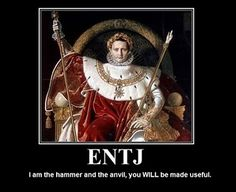 Wow! An ENTJ saying that makes sense to me!