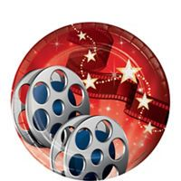 Hollywood Movie Night Cups 8ct - Party City on sale for $1.95