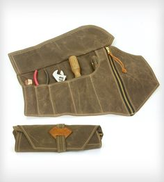 Waxed Canvas Tool Roll in Men s by Red Clouds Collective on Scoutmob  Shoppe. A handcrafted waxed canvas tool roll for the handy man in your life. f17538e183cc9