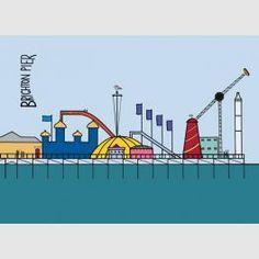 'Brighton Pier' limited edition box canvas print
