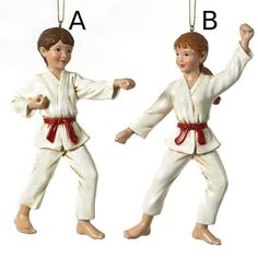 Country Marketplace - Karate Boy or Girl Ornaments , $12.00 (http://www.countrymarketplaces.com/karate-boy-or-girl-ornaments/)