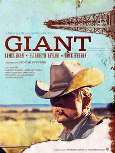 """Giant"" movie poster  by Turtle Burkybile  turtlenyc@me.com"