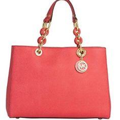 MK Cynthia Satchel Medium size. Watermelon color Michael Kors Bags