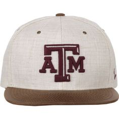 Zephyr Men's Texas A&M University Havana Flat 2-Tone Cap (White/Brown, Size One Size) - NCAA Licensed Product, NCAA Men's Caps at Academy Sports
