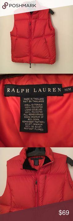 Ralph Lauren down vest. Excellent condition! Sz M Ralph Lauren down vest. Excellent condition. Sz M. Orange Ralph Lauren Jackets & Coats Vests