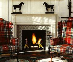 Plaid and equestrian.