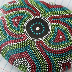 Victorian Brooch Design Dot Painted Rock